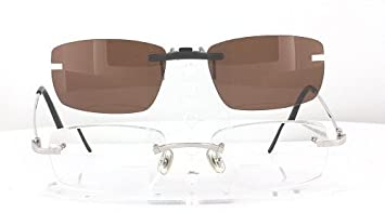 0ea7be183329 Amazon.com  CARTIER 5310907 POLARIZED CLIP-ON SUNGLASSES (Frame NOT ...