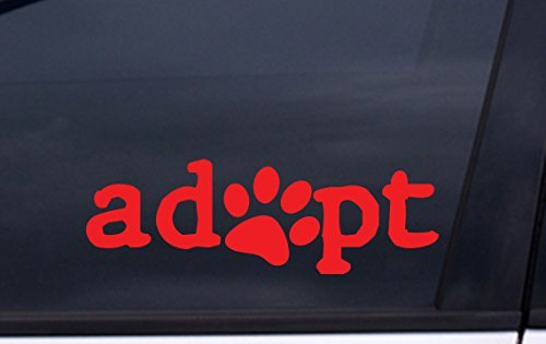 focenterprises-adopt-dog-paw-decal-2x6-red-rescue-pound-puppy-sticker