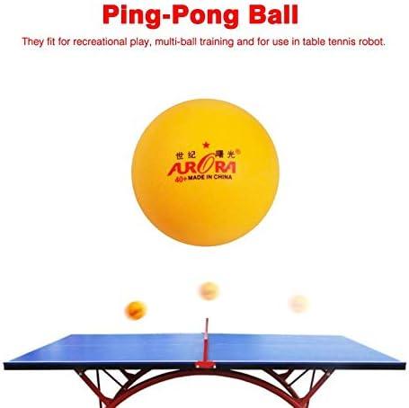 ArgoDBar 10 Pcs Pratique Professionnelle Balle De Ping-Pong Balle De Tennis De Table en Vrac Comp/étition Match /Équipement Dentra/înement Jaune