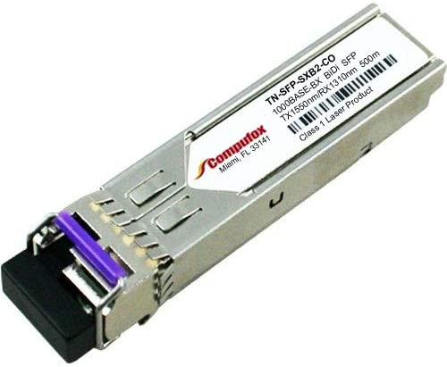 Transition Compatible 1000BASE-BX-D SFP 1550nm TX//1310nm RX 500m MMF transceiver TN-SFP-SXB2