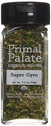 Primal Palate Organic Spices Super Gyro, Certified Organic, 1.2 oz Bottle