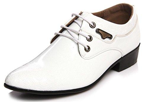 white Vestido Boda Zapatos HYLM De Nuevo Zapatos La Hombre Zapatos Moda Impresiones Banquete Negocios Oxford De xZwqxCP