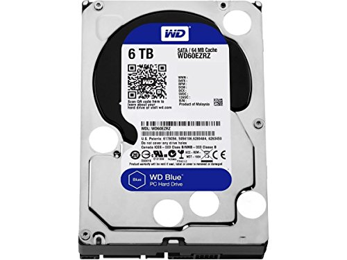 WD Blue 6TB Desktop Hard Disk Drive - SATA 6 Gb/s 64MB Cache 3.5 Inch - WD60EZRZ by Western Digital
