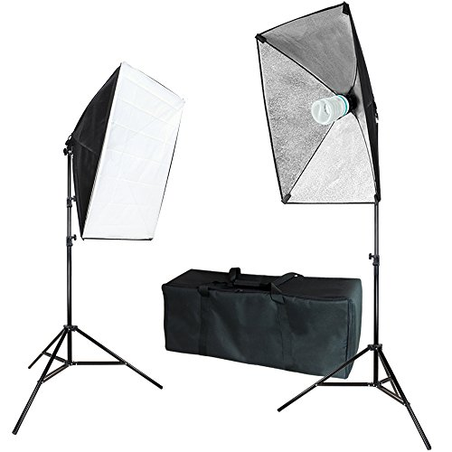 Julius Studio 20'' x 28'' Soft Box with Bulb Socket, Photography Softbox Continuous Lighting System Equipment Light Kit, Photo Model Portrait Shooting Box, Photo Studio, JSAG271 by Julius Studio