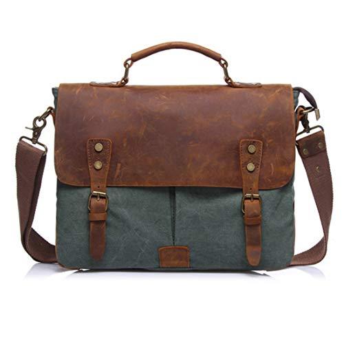 Vintage À Sac Vert Ordinateur Homme Bandoulière Messenger Portable Pour Bag Huicai Grand Main 7AIxwIE