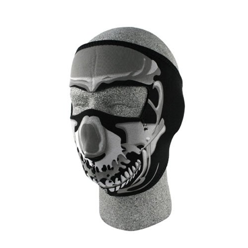 ZANheadgear Neoprene Skull Face Mask (Chrome/Black)