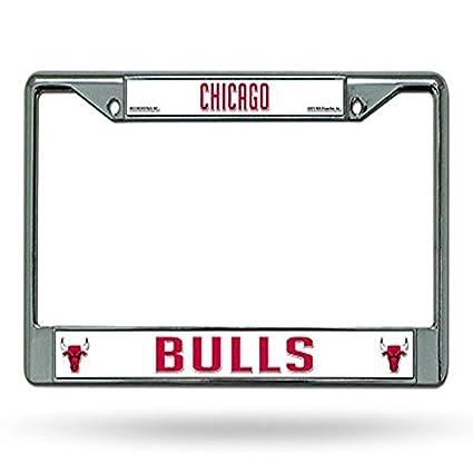Amazon.com: Rico Chicago Bulls Chrome License Plate Frame: Automotive