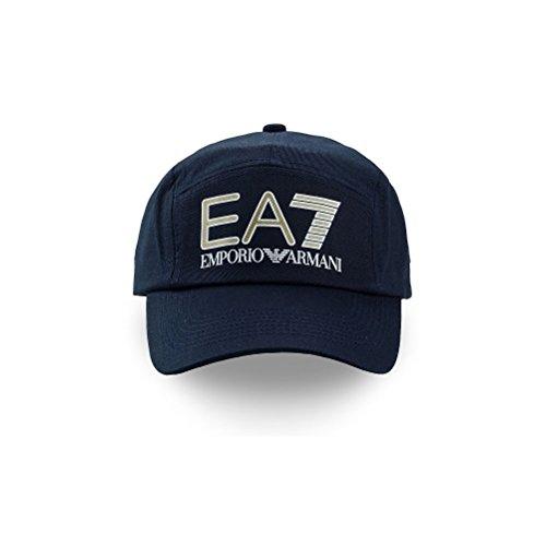 257283a4439 Casquette EA7 EMPORIO ARMANI baseball OLIMPIA MILANO - taille réglable -  Visière rigide - bleu or  Amazon.fr  Vêtements et accessoires
