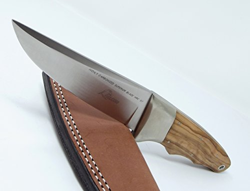 Falcon Knives Italy Hunting Knife with Leather Sheath High Carbon Stainless Steel Blade by Falcon Knives