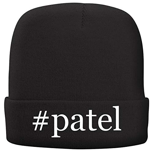 BH Cool Designs #Patel - Adult Hashtag Comfortable Fleece Lined Beanie, Black