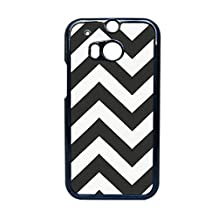 Generice Apparent Design Black And White For Htc One M8 Plastic Phone Cases For Girls