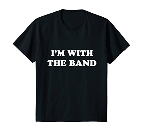 Kids I'm With The Band T-Shirt Rock Star Drummer Tee Shirt Youth 8 ()