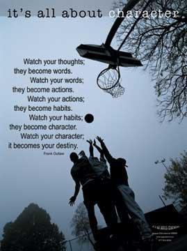 Amazon.com: Watch Your Character (Basketball) Inspirational ...