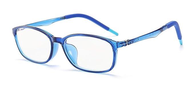 5c142b346e Azul Bloqueo Gafas para Niños Anti Rayo Azul Filtro Reduce Fatiga Visual  Para Niña Chico Gafas de Ordenador para Niños Bloqueo Luz Azul Gafas  Computadora ...