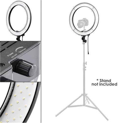 Flashpoint Photo/Video 19'' AC Powered 55W 5500K Dimmable LED Ring Light With Bag by Flashpoint