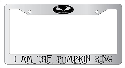 Chrome License Plate Frame I Am The Pumpkin King Auto Accessory EBSK Nightmare Before Christmas AMA 876