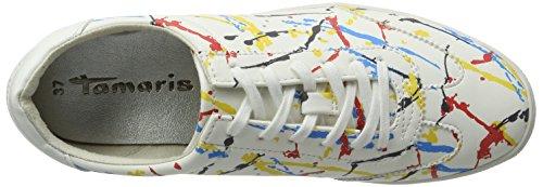 Basse da Ginnastica Scarpe Bianco 126 23622 Multi Donna Tamaris Graffiti I4RSPqg