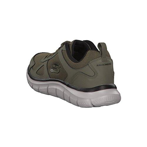 Scloric Track Negro Oliva Skechers 52631 Trainers Olive Black Men Sneaker CRWdzO6q5