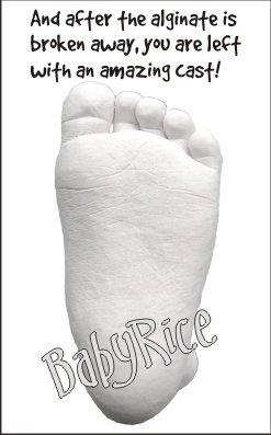BabyRice/ /Kit//29,2/x 21,6/cm solida cornice in quercia//bianco 3/fori Mount//White backing//argento vernice