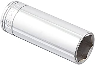 product image for SK Professional Tools 8417 3/8 in. Drive 6-Point Metric Extra Deep Chrome Socket – 17 mm old Forged Steel Socket with SuperKrome Finish, Made in USA