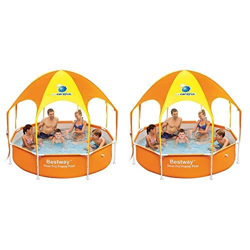 Bestway 8' x 20'' Splash in Shade Kids Spray Play Swimming Pool & Canopy (2 Pack) by Bestway (Image #7)