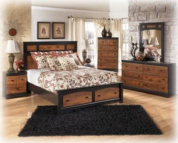 Amazon.com - Ashley Aimwell Vintage Casual Full Size Bed in ...