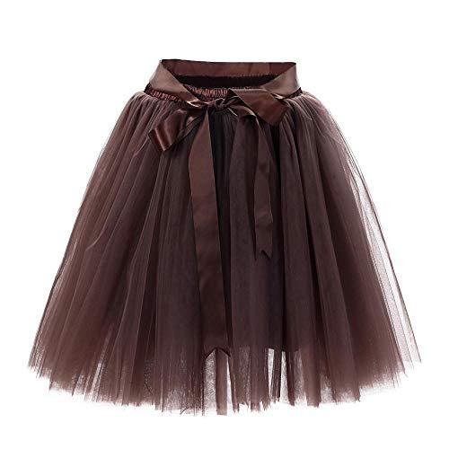 Café Gasa Suave Moda Mujer Bailando Falda Plisado Casual Vjgoal Sólido Verano Color Mini Tutu WxHa8BqYOw