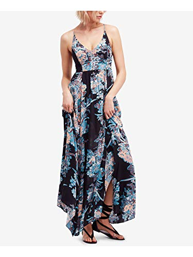 Intimately Free People Womens Through The Vine Floral Maxi Dress Black XS