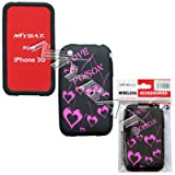 Apple iPhone 3G/3GS Laser Love Poison (Hot Pink/Black) Skin Cover Silicone/Gel/Soft/Cover/Case