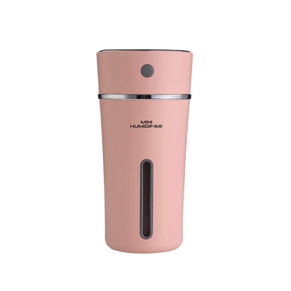 QSCA 300Ml Essential Oil Diffuser USB Desktop Night Light Ultrasonic Cold Fog Humidifier USB Fragrance Lamp Home Office Car Humidifier-Pink by QSCA