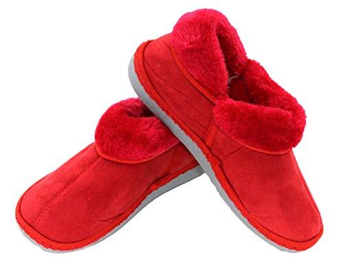 brandsseller - Zapatillas de estar por casa de Material Sintético para mujer Rojo