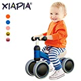 Baby Toddler Tricycle Bike No Pedals 10-24 Months Ride-on Toys Gifts Indoor Outdoor for One Year Old Boys Girls First Birthday Thanksgiving Christmas Blue