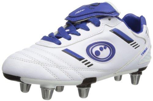 Optimum Tribal - Bota de Rugby Junior Blanco/Azul (White/Blue)