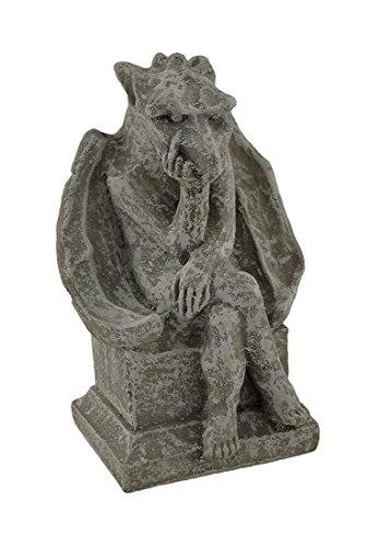 Private Label Concrete Statues Birdman Obscene Gesture Concrete Gargoyle Statue 5 X 8 X 4 Inches Gray Review
