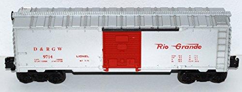 Lionel Trains 9714 D&RGW Boxcar BOXED Denver RIo Grande RED Silver 1973-74 MPC -  6-9714