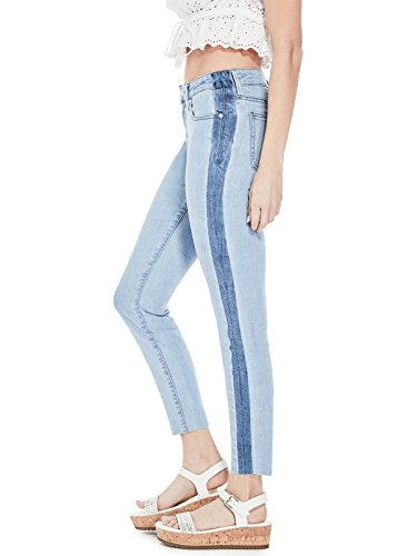 GUESS Factory Women's Women's Carmona Shadow-Stripe Skinny Jeans