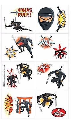 Amazon.com: Ninja Tattoos - Set of 16 Tattoos: Kitchen & Dining