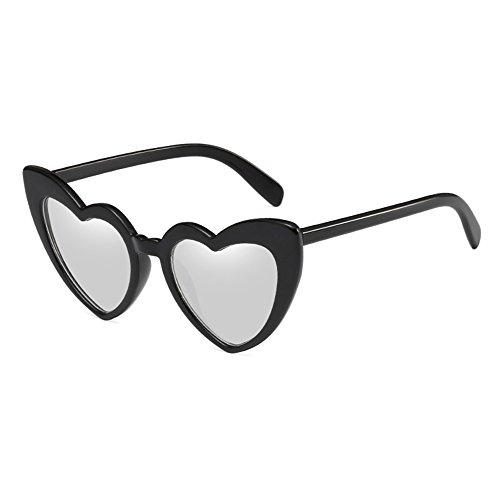 Gafas de de juqilu corazón Lover Gafas Vintage Female de Shades lindas con forma C3 sol Retro sol Romantic Pqxwv0Pr