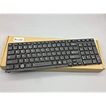 Replacement Keyboard for Toshiba Satellite A660 A660D A665 A665D Series Laptop Black Keys Black Frame Without Backlight