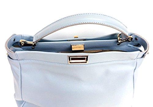 Donna Superflybags morbida Firenze in in Made pelle vera modello Azzurro Italy sauvage Borsa rR8Rqn5w