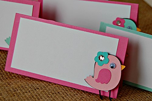 Baby Bird Birthday Party Food Buffet Name Tags Set of 6