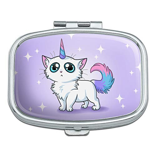Cat Unicorn Rectangle Pill Case Trinket Gift ()