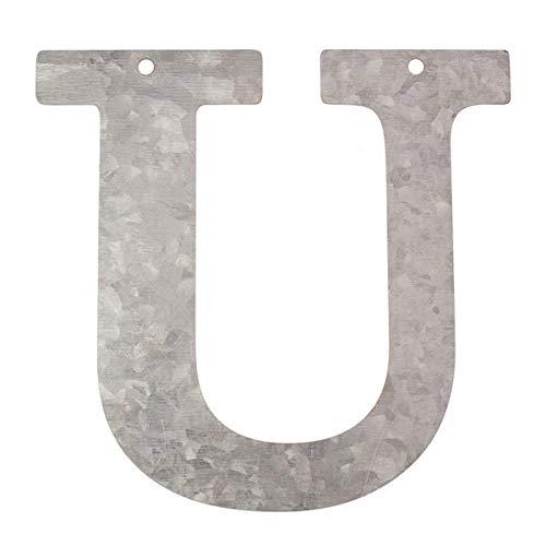 Metall Buchstabe U, verzinkt Höhe 12 cm Alphabet - Initialien GLOREX GmbH