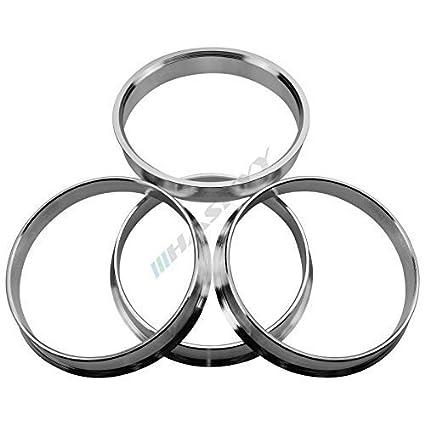 4 Alu anillas de centrado 72,6-66,6 mercedes benz audi Rh Artec Borbet ICW asa-nuevo