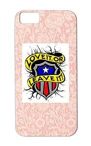TPU Black Love It Or Leave For Iphone 5c USA American Pride United States Miscellaneous Art Design Anti-scuff Cover Case