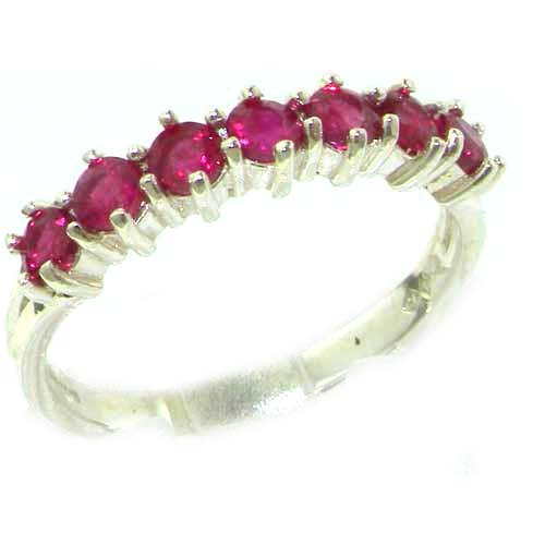 925 Sterling Silver Natural Ruby Womens Eternity Ring Sizes 4 to 12 Available