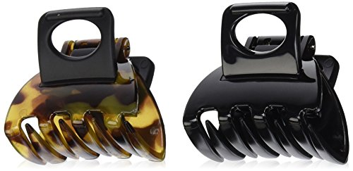 Scunci No-slip Grip Double Teeth Jaw Clips, 2 Count
