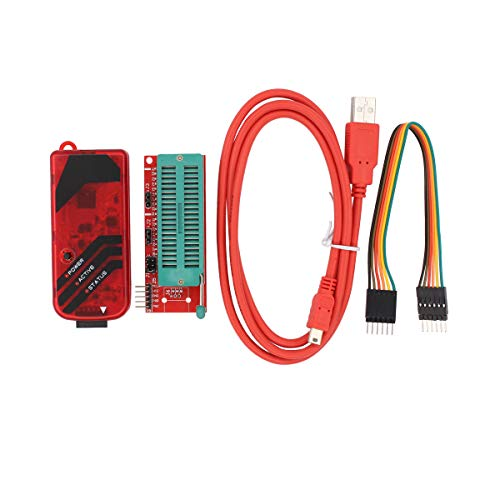 (New PICKit3 Microchip Programmer with USB Cable, Wires Pic Kit 3 and ICSP Socket)
