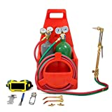 Professional Welder Oxygen Acetylene Oxy Gas Welding Cutting Shop, Portable Twin Tote Weld Torch Tank DOT