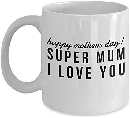 Mamá Caja de regalo Madrastra Taza Taza blanca ¡Feliz Día de la Madre! Súper mamá te amo: Amazon.es: Hogar